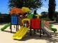 Уличный детский игровой комплекс с качелями и горками  ИК-030 0