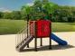 Уличный детский игровой комплекс с качелями и горками  ИК-019 0