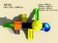 Уличный детский игровой комплекс с качелями и горками  ИК-031 2