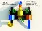 Уличный детский игровой комплекс с качелями и горками  ИК-004 2