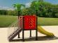 Уличный детский игровой комплекс с качелями и горками  ИК-020 0