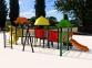 Уличный детский игровой комплекс с качелями и горками  ИК-009 0