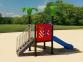 Уличный детский игровой комплекс с качелями и горками  ИК-021 0
