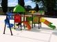 Уличный детский игровой комплекс с качелями и горками  ИК-016 0