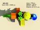 Уличный детский игровой комплекс с качелями и горками  ИК-028 2