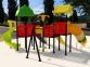 Уличный детский игровой комплекс с качелями и горками  ИК-034 0