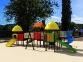 Уличный детский игровой комплекс с качелями и горками  ИК-026 0