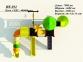 Уличный детский игровой комплекс с качелями и горками  ИК-034 2