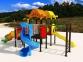 Уличный детский игровой комплекс с качелями и горками  ИК-013 0