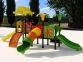 Уличный детский игровой комплекс с качелями и горками  ИК-014 0