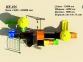 Уличный детский игровой комплекс с качелями и горками  ИК-026 2