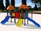 Уличный детский игровой комплекс с качелями и горками  ИК-001 0