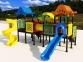 Уличный детский игровой комплекс с качелями и горками  ИК-004 0