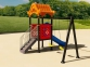 Уличный детский игровой комплекс с качелями и горками  ИК-024 0