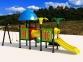 Уличный детский игровой комплекс с качелями и горками  ИК-005 0