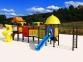 Уличный детский игровой комплекс с качелями и горками  ИК-007 0