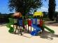 Уличный детский игровой комплекс с качелями и горками  ИК-029 0