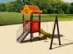 Уличный детский игровой комплекс с качелями и горками  ИК-025 0