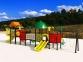 Уличный детский игровой комплекс с качелями и горками  ИК-006 0