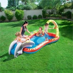 Детский игровой бассейн Bestway 279х173х102 см, с брызгалкой и принадлежностями для игр