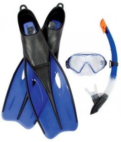 Набор для плавания Dream Diver, для взрослых, 3 предмета: маска, трубка, ласты, размер 38-39, цвет МИКС Bestway