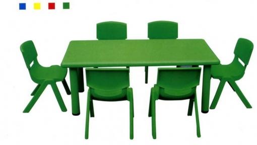 Детский зеленый прямоугольный стол 120х60х48 см