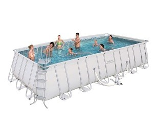 Каркасный прямоугольный бассейн Bestway 732х366х132 см