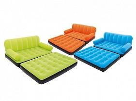 BW Надувной диван-кровать Multi-Max Air Couch With Sidewinder AC Air Pump188х152х64 см,с электронасосом