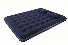 BW Надувной матрас Flocked Air Bed With Air Pump(Queen) 203х152х22 см с ручным насосом и 2 подушками