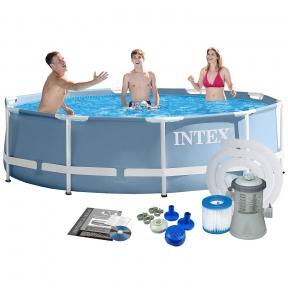 Каркасный бассейн Intex Prism Frame 305*76 см голубой, фильтр-насос