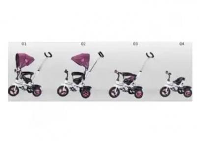 Детский трехколесный велосипед коляска