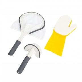 Набор для чистки SPA бассейнами, 3 предмета: сачок, руковица, щётка Bestway