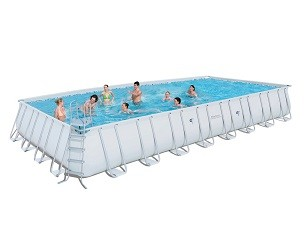 Большой каркасный прямоугольный бассейн Bestway 956х488х132 см