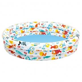 Детский бассейн Рыбки 132*28 см