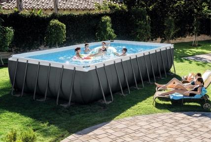 Каркасный бассейн Intex ultra xtr premium pool line 732x366x132см, 31805л, песочный фил.-насос, лестница, тент, подстилка