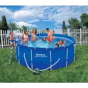 Большой круглый каркасный бассейн BestWay 366x122 См