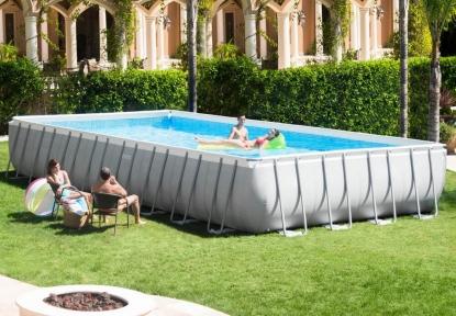 Самый большой каркасный прямоугольный бассейн Intex 975х488х132 см