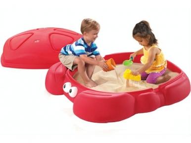 Песочница детская пластиковая с крышкой