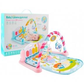 Развивающий коврик-пианино для малышей (розовый, голубой)