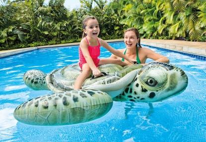 Плавательная игрушка Черепаха с ручками Intex 191х170см, от 3 лет