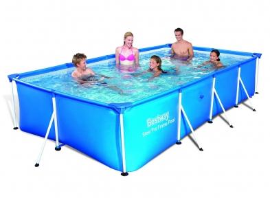 Каркасный прямоугольный бассейн 400х211х81 см, 5700 л.,фильтр-насос 1249 л/ч