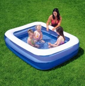 Надувной прямоугольный бассейн Bestway, 201х150х51 см