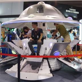 Аттракцион для детских развлекательных игровых центров и парков. Летающая тарелка 9DVR кинотеатр.
