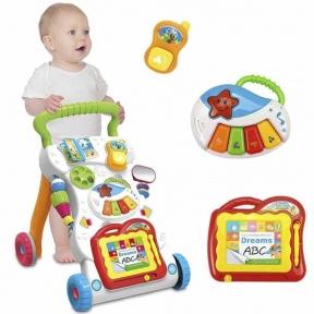 Детские ходунки-толкатели  на колесиках для малышей