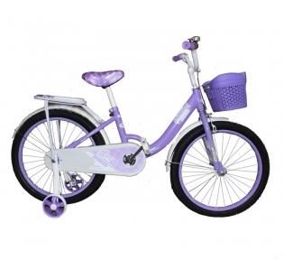 Детский двухколесный велосипед с подпорками 16'' для девочек