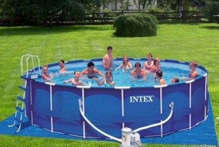 Каркасный бассейн Intex Metal Frame 732х132см