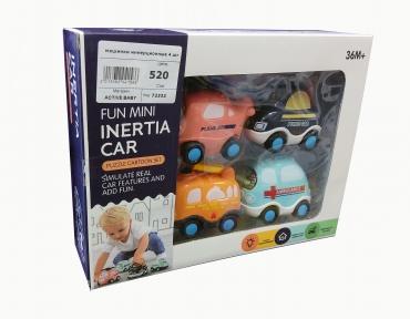 Машинки инерционные для малышей. В наборе 4 штук