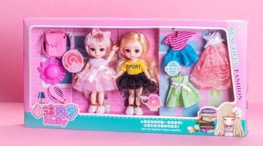 Аниме кукла Ученица маленькая Му. Набор из двух кукол
