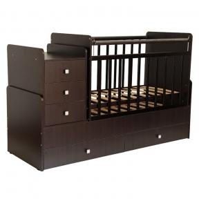 Кровать детская Фея 1100 Венге коричневая