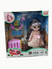 Кукла  Аниме с собачкой